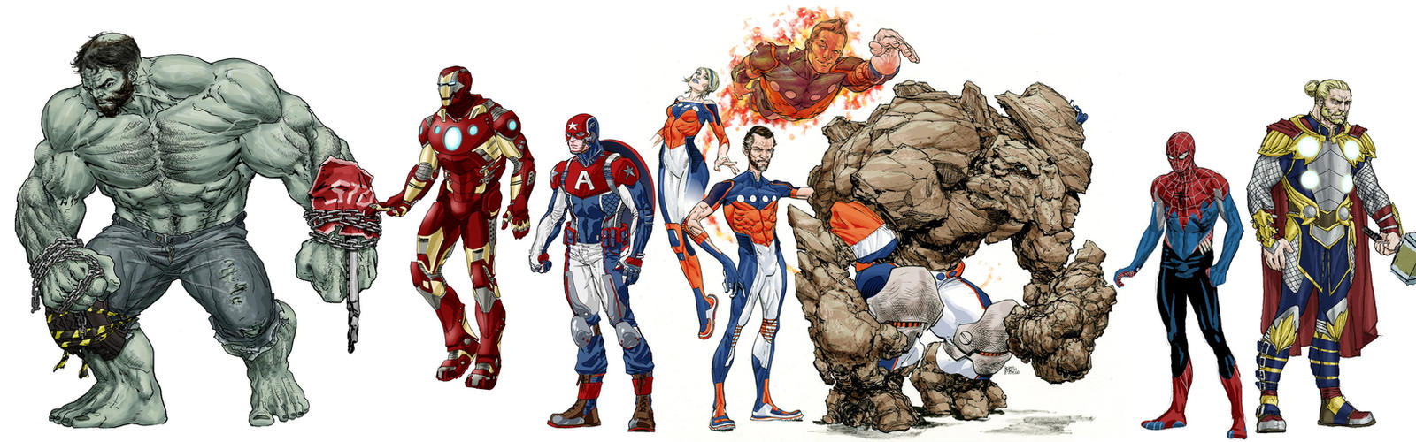 Marvel Redesigns WIP by RansomGetty
