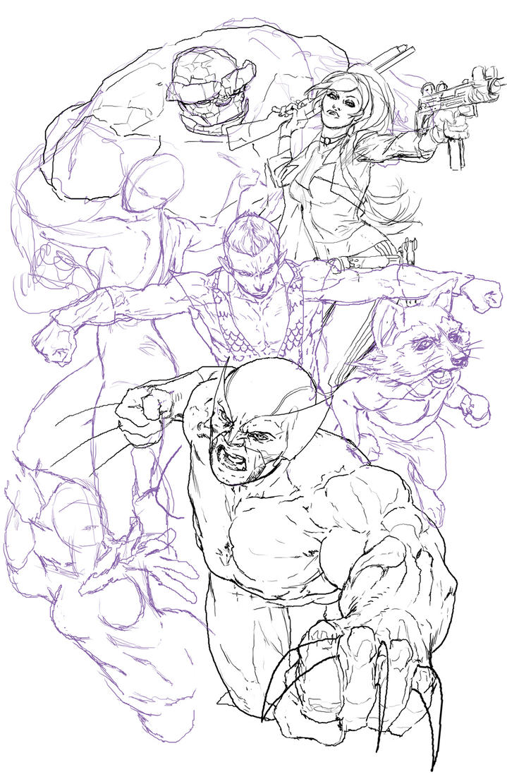 Group Shot WIP by RansomGetty