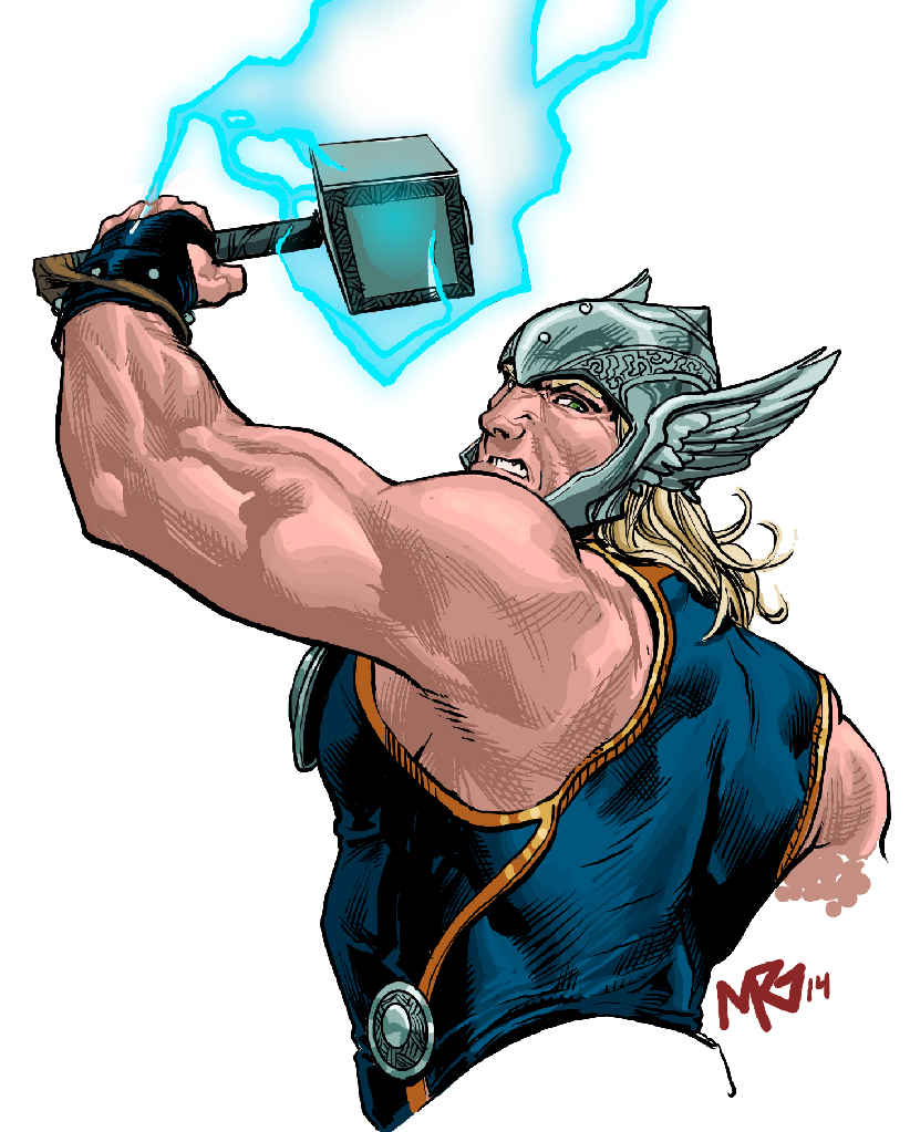 Thor Doodle by RansomGetty