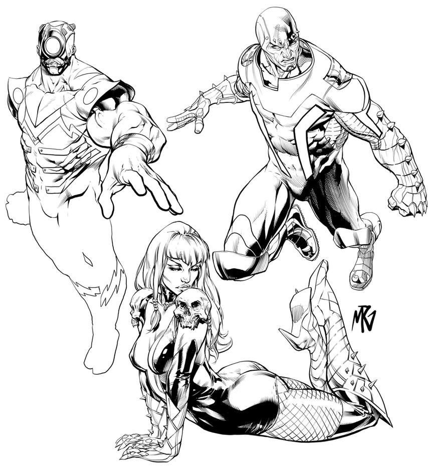 Trio Inks by RansomGetty