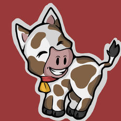 Cow   Digital Arts by wtxy