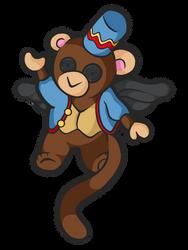 Flying Pretty (Monkey) by wtxy