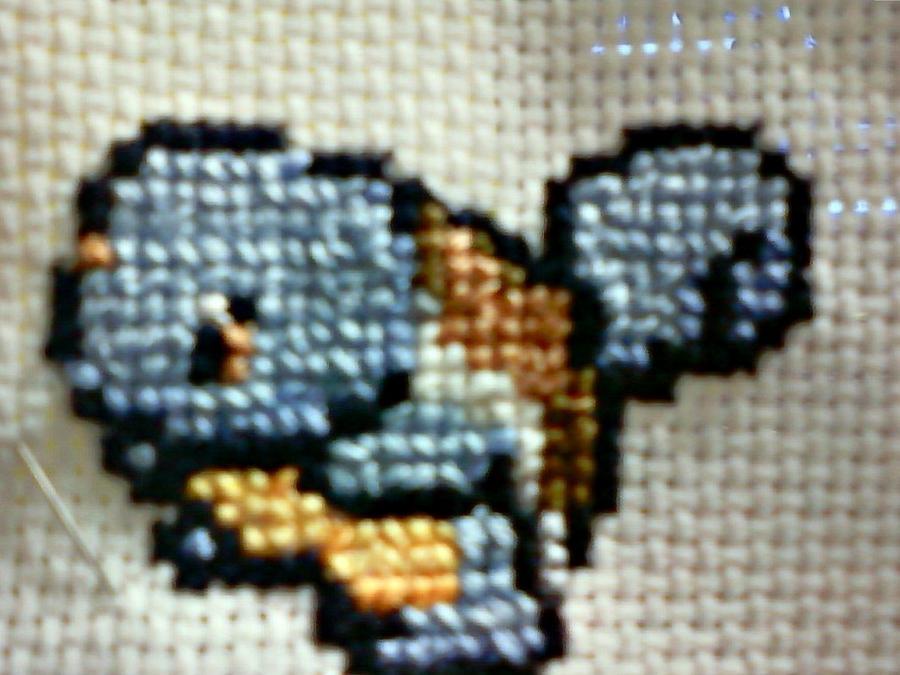 Squirtle Sprite embroidery by ~blackbirdbethie88 on deviantART