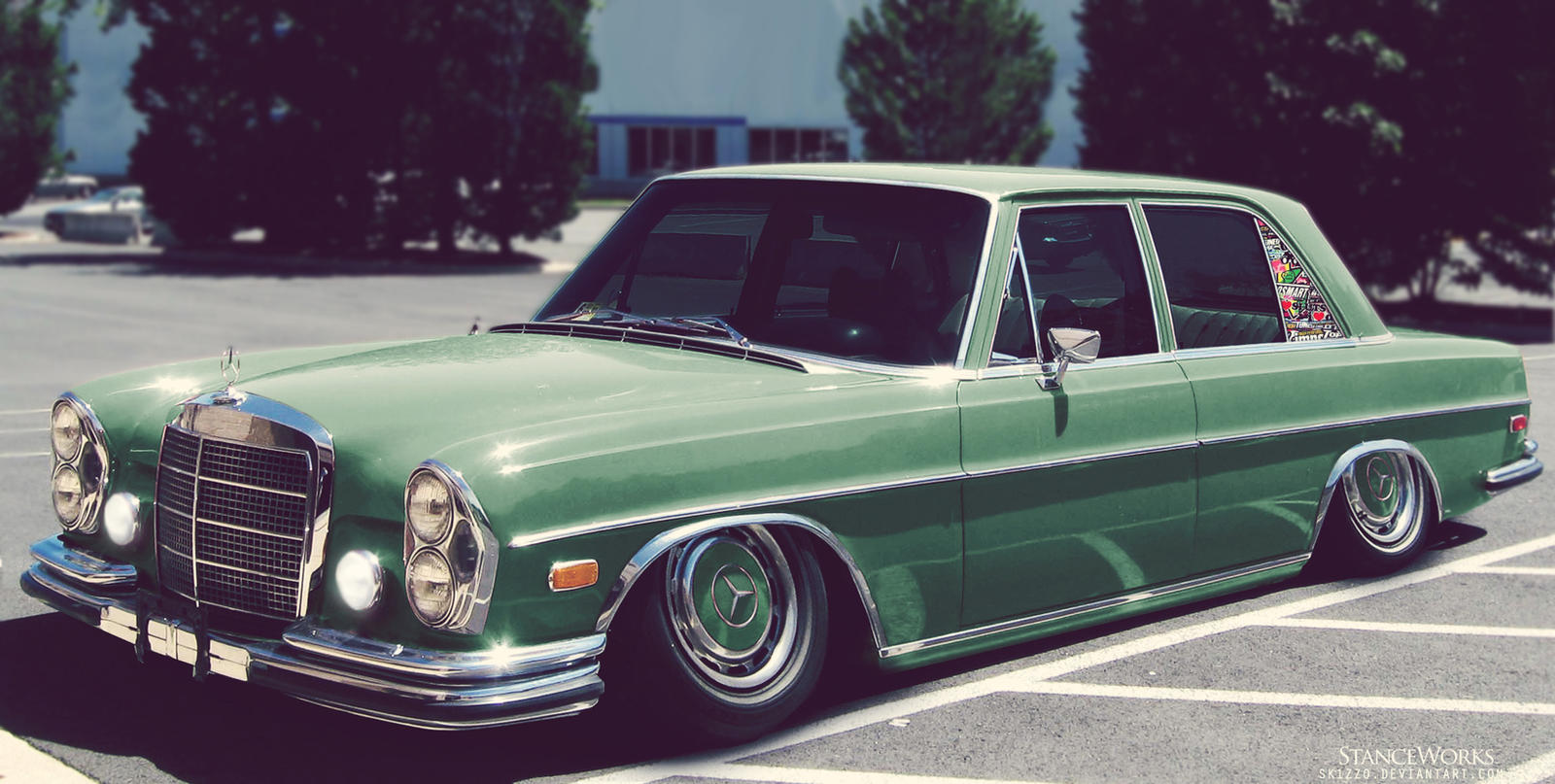 Stanced mercedes benz w108 by sk1zzo on deviantart for Mercedes benz 108