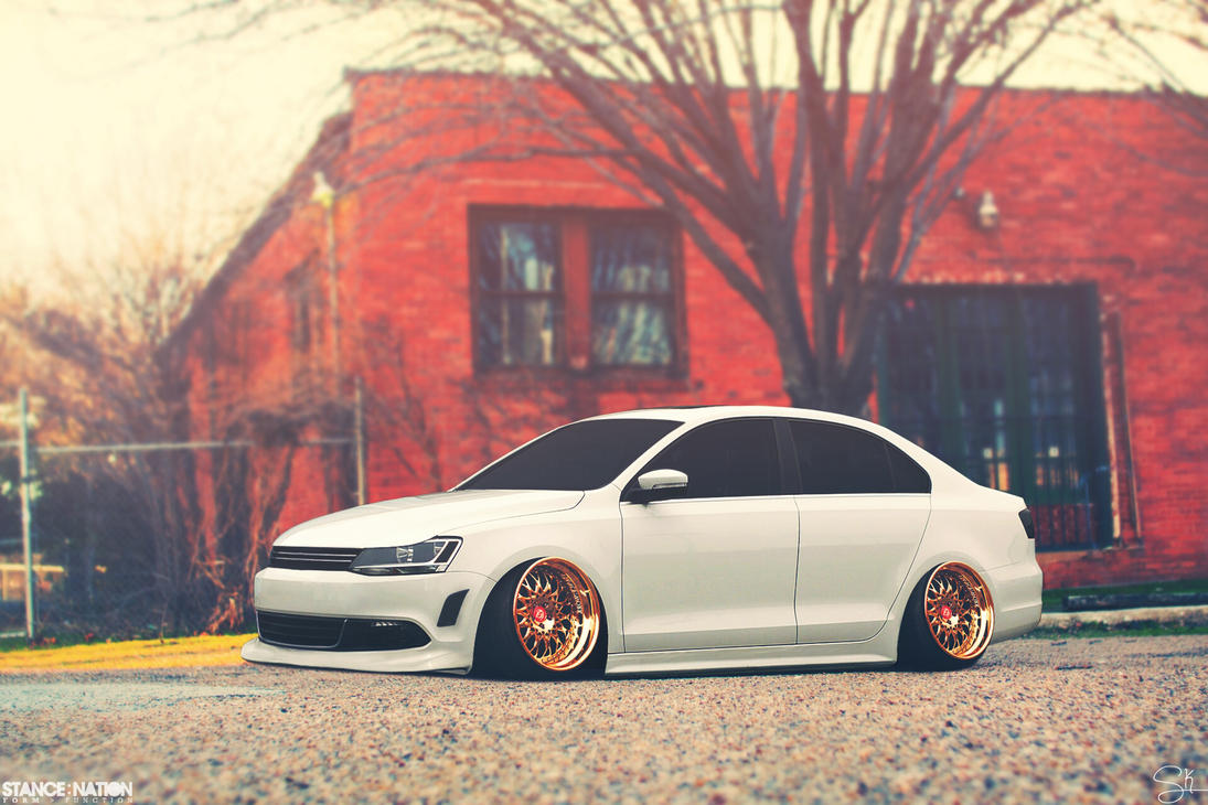 Stanced Volkwagen Jetta Front By Sk1zzo On Deviantart