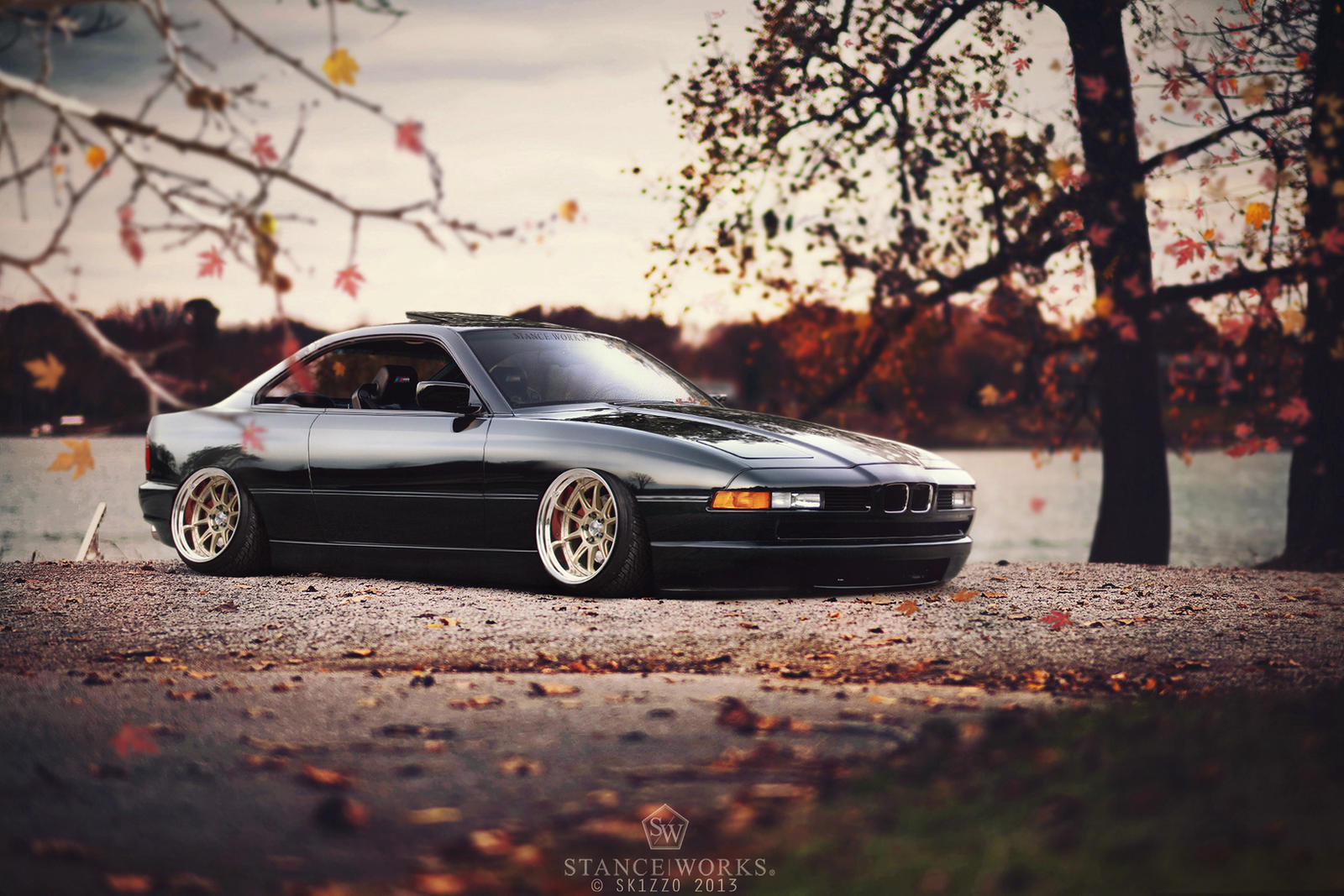 Stanced Bmw 850i By Sk1zzo On Deviantart