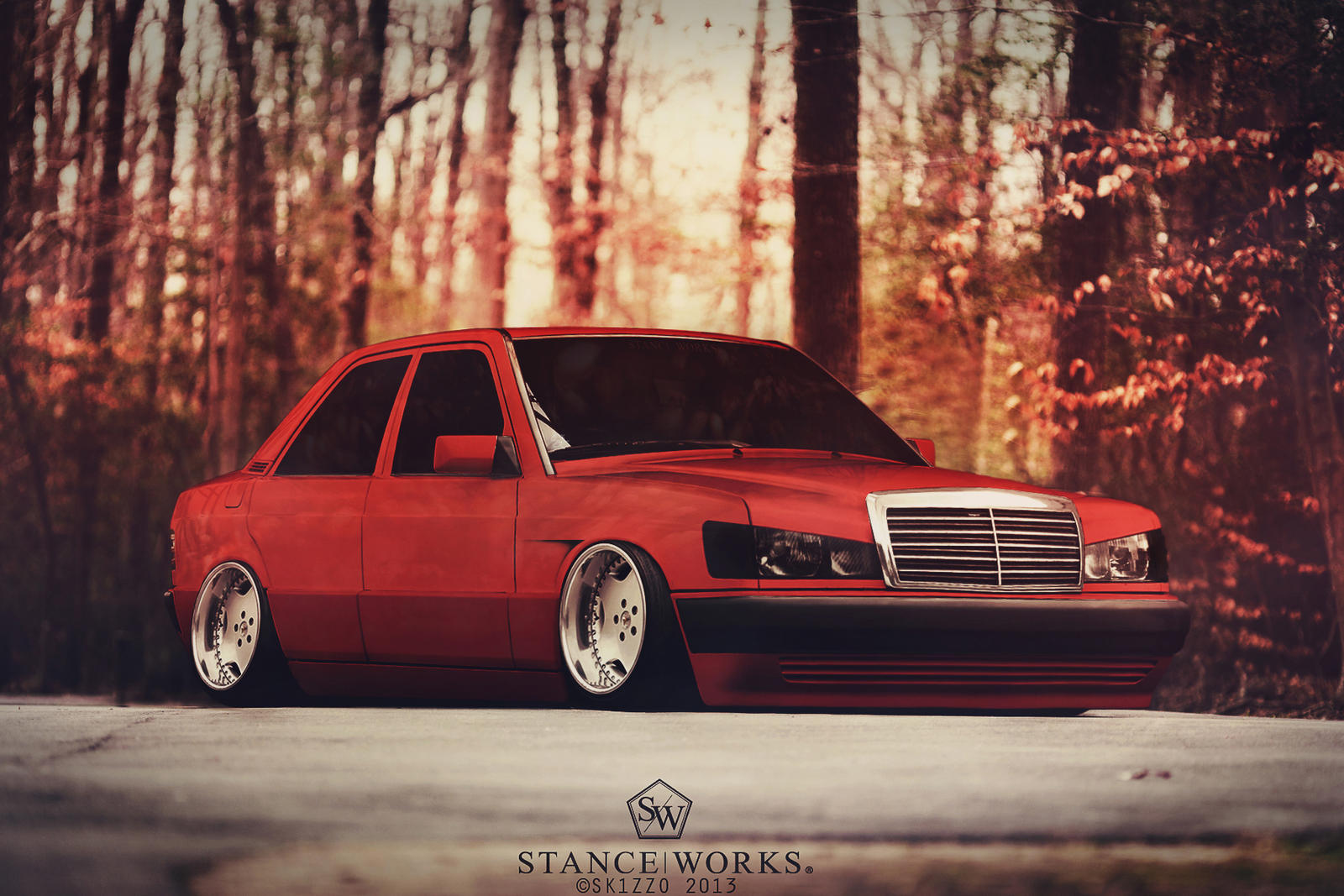 Stanced mercedes benz 190e by sk1zzo on deviantart for Mercedes benz 190 e
