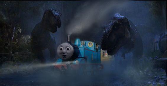 Thomas In Jurassic Park Uk -2 by dinodanthetrainman