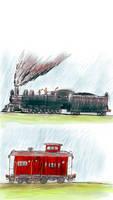 locomotive and caboose 2