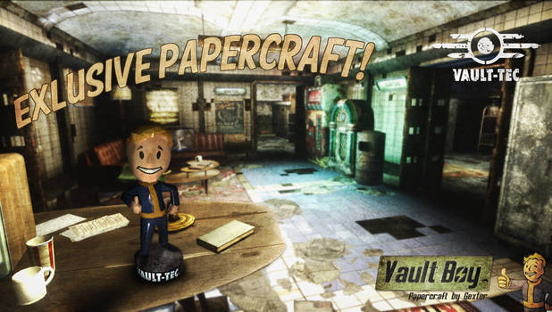 Fallout - Vault Boy Charisma Bobblehead Papercraft