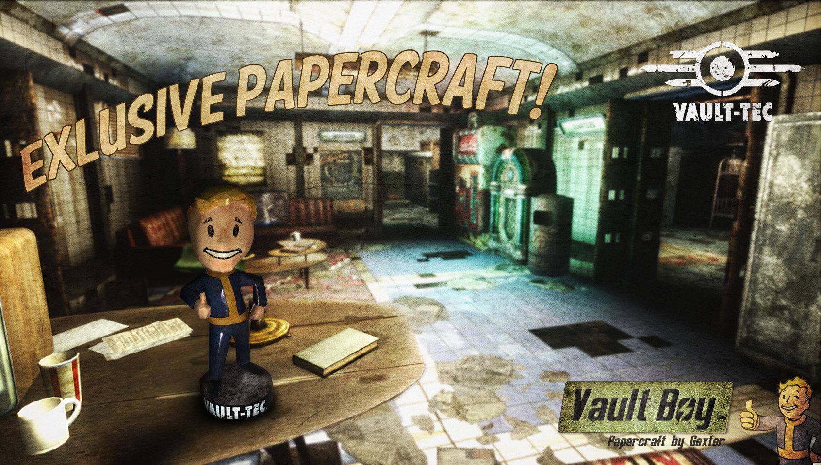 Fallout - Vault Boy Charisma Bobblehead Papercraft by g3xter