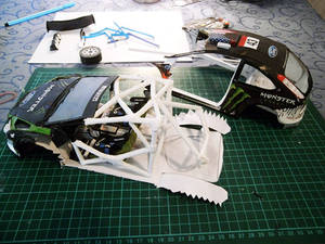 Ford Focus RS WRC 08 'Ken Block' Papercraft WIP
