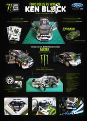 Ford Focus RS WRC 08 'K.Block' Papercraft Template