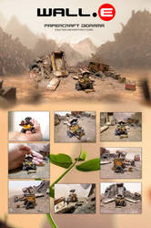 Wall-E papercraft diorama