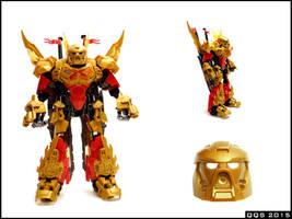 Tahu 70787 remake - golden mask!