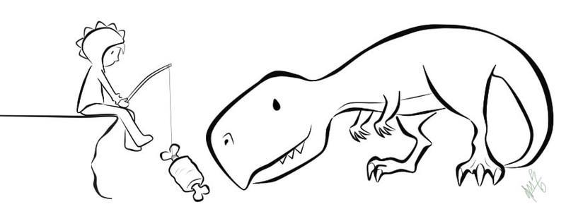 WIP - Feeding T-Rex by Sir-Ar