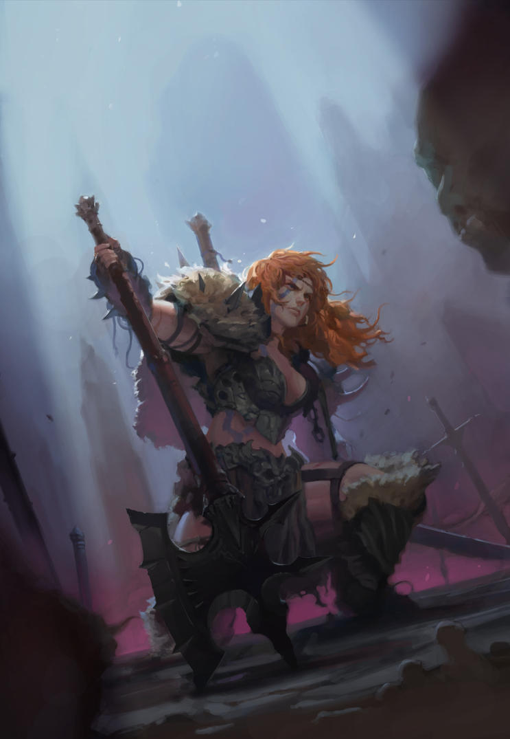 fan art : Barbarian by aobtd88