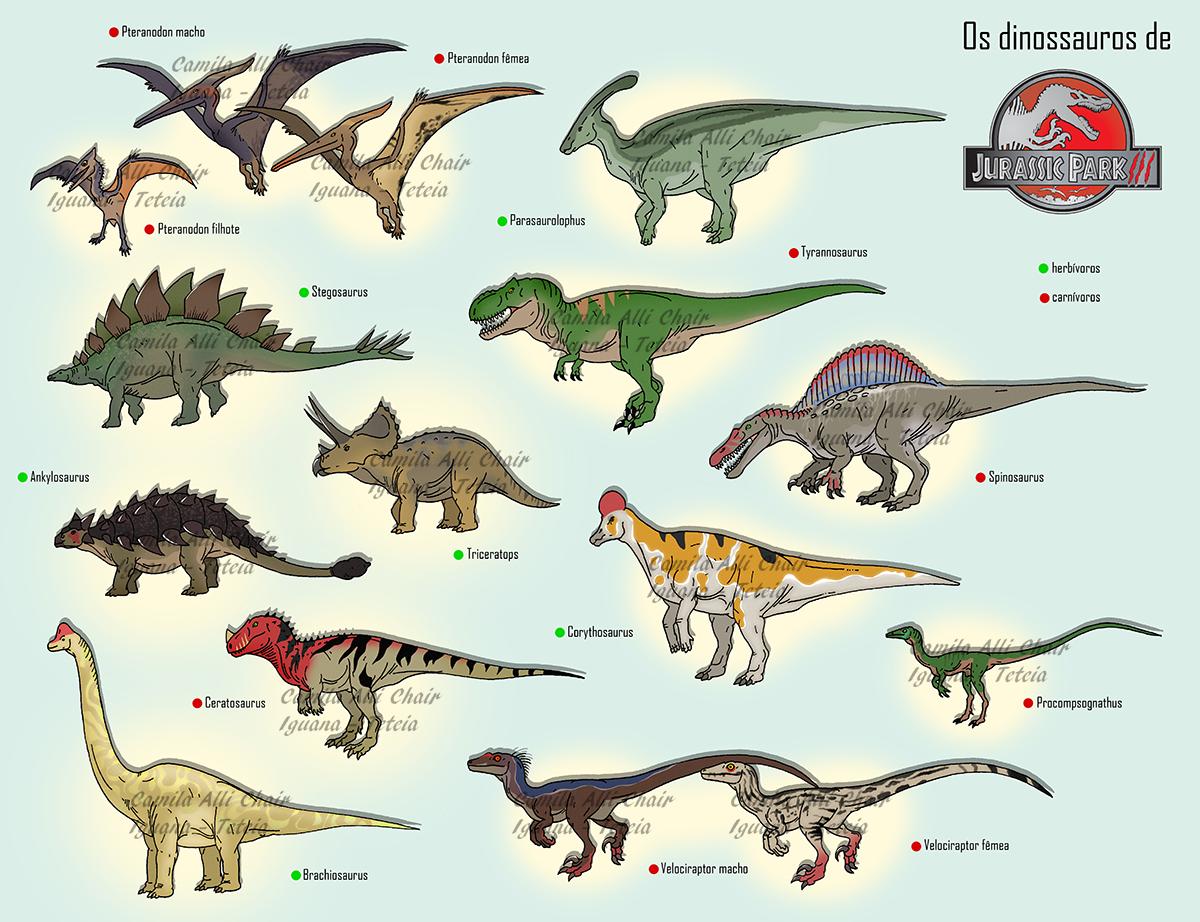 Jurassic Park III Dinosaurs By FreakyRaptor On DeviantArt