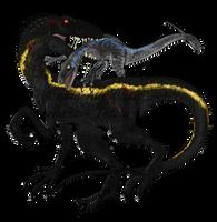 Indoraptor vs Blue by FreakyRaptor