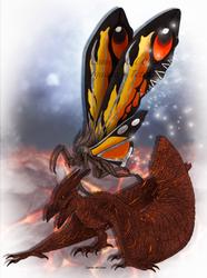 Rodan and Mothra by FreakyRaptor