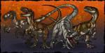 Atrociraptor Squad by FreakyRaptor