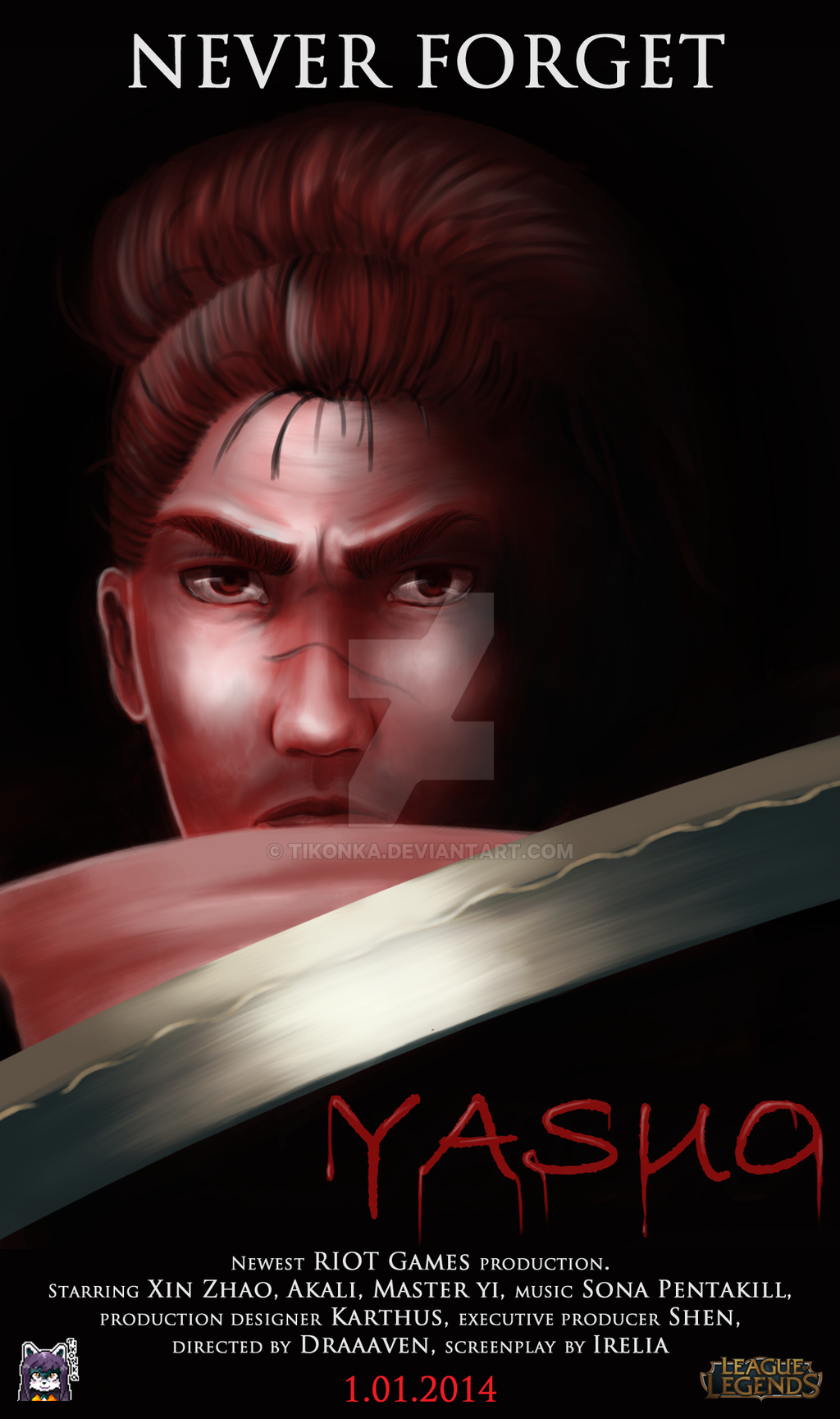 Yasuo Fan Art Contest Yasuo, movie poster co...
