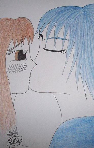 Gift Art: A Kiss _1_ by Prince-Saffiru