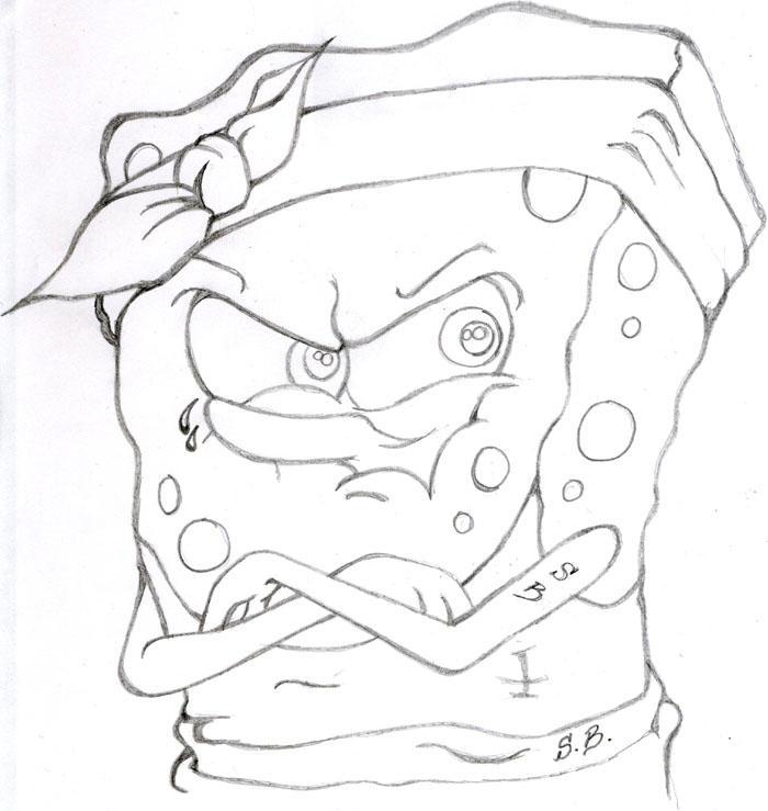Gangster Sketches: Kartun: Ilustrasi Karakter Spongebob