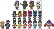Power Rangers In Space Pixel by Slaizen