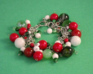 Beaded and marble charm bracelet by Artful-Transendence