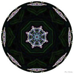 Neon Wildflower Mandala
