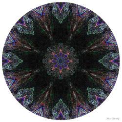 Neon Morning Glory Mandala