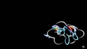 Rainbow dash Glow Wallpaper
