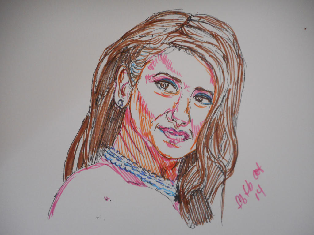 Nina in marker by fbforbill