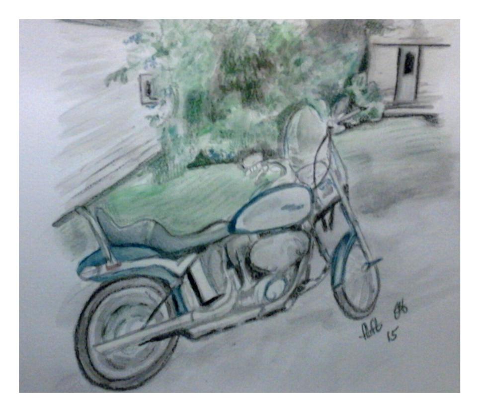 Commissioned work. Motorbike by fbforbill