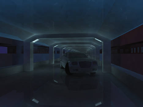 Untitled- A Car in A Tunnel