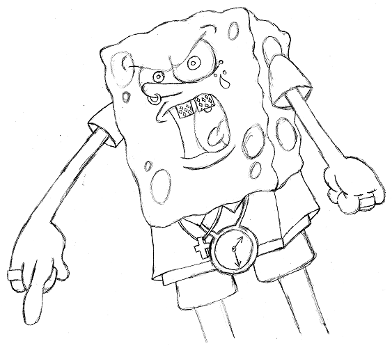 Pin Gangster Spongebob Coloring Pages On Pinterest