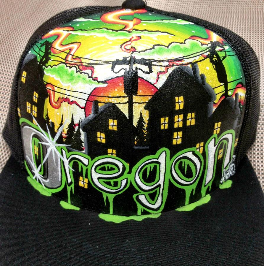 Oregon Ducks Backgrounds: Oregon Ducks Inspired Hat. 'Ducks Bleed Green' By