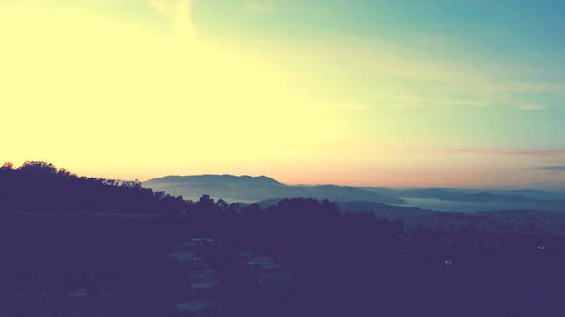 Sunset on Twin Peaks