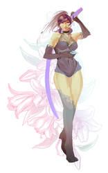 Purple Lily by dearvalerius