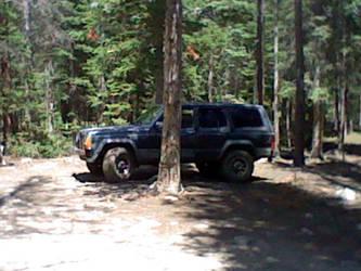 My jeep at camp by Kagezashi-Umbreon