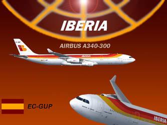 Iberia A340-313X EC-GUP by SpanStallion