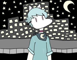 Moonlight night walks by flyingturtle2000