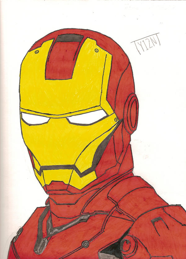 Iron Man Drawing by TY124NT on DeviantArt