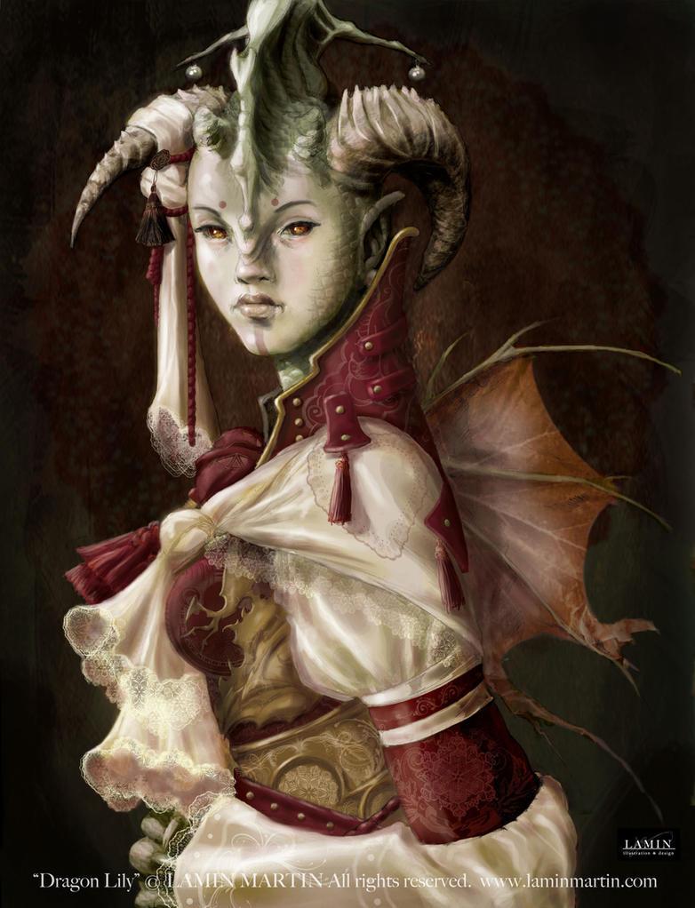 Dragon Lily by LaminIllustration