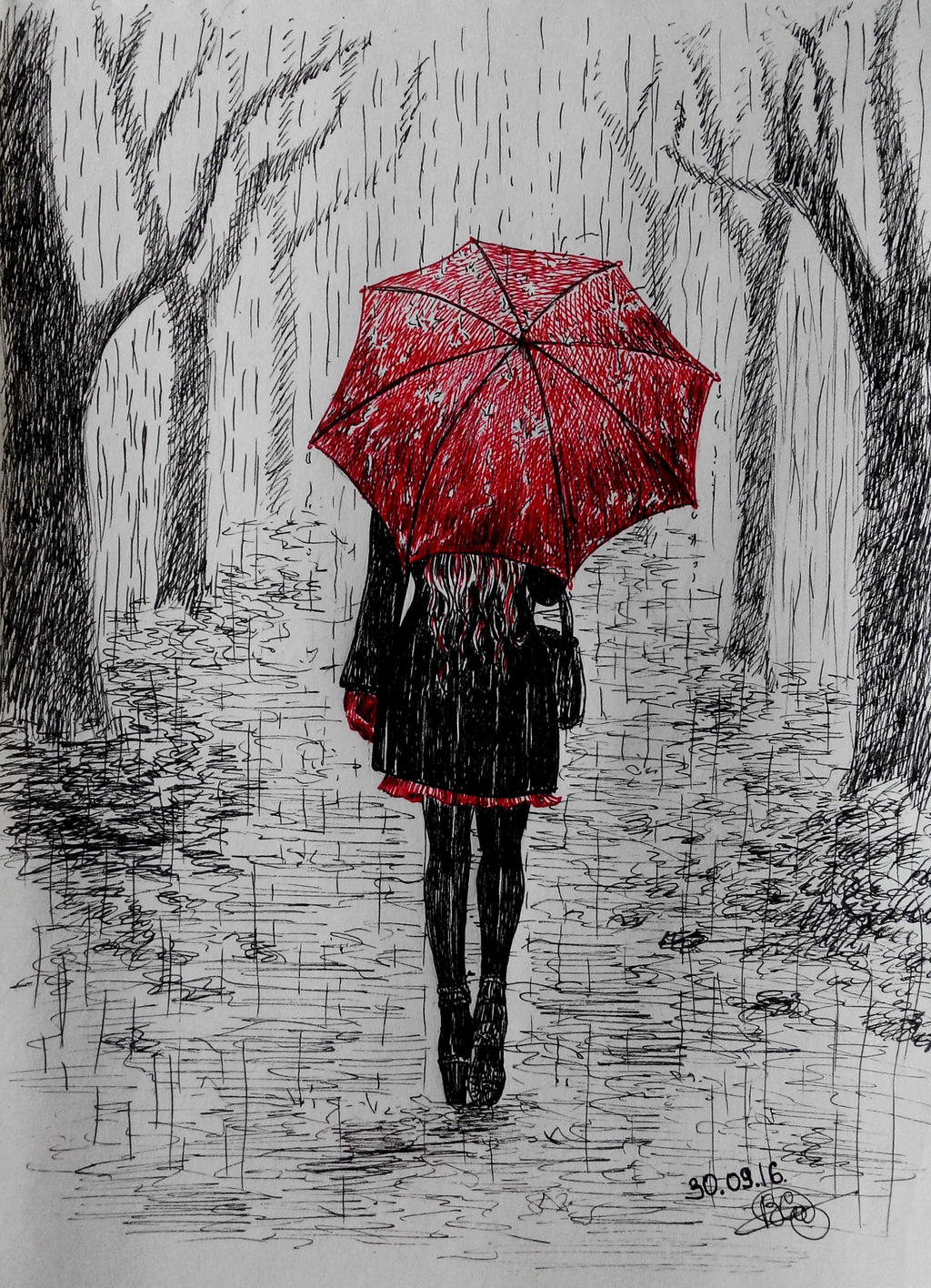 Rain #11 by long-haired-lady