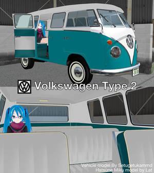 MMD Vehicle DL Series #1: Volkswagen Type 2