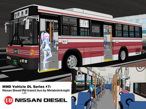 MMD Vehicle DL Series #7: 1990-2005 UD Route Bus