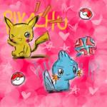 Pikachu and Mudkip