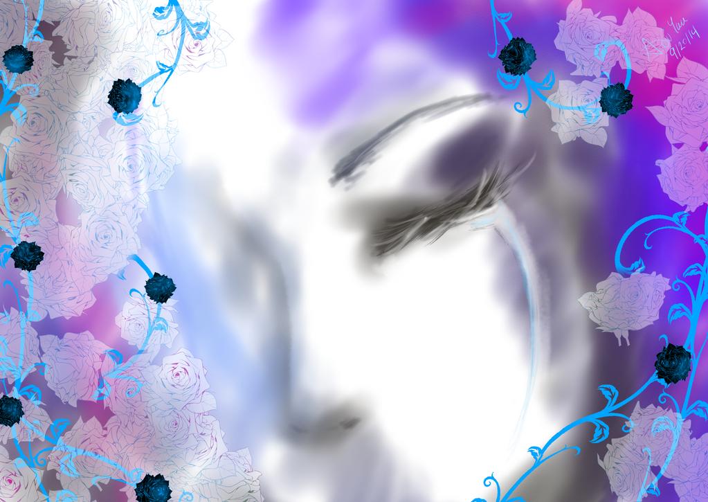 Crying Rose by Wonder-land--Art